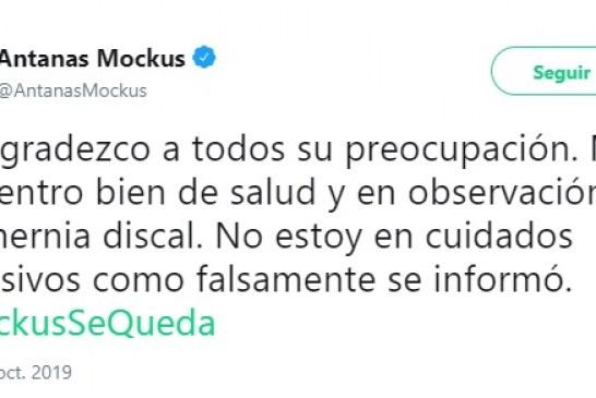 Antanas Mockus desmiente que esté internado en cuidados intensivos en Bogotá