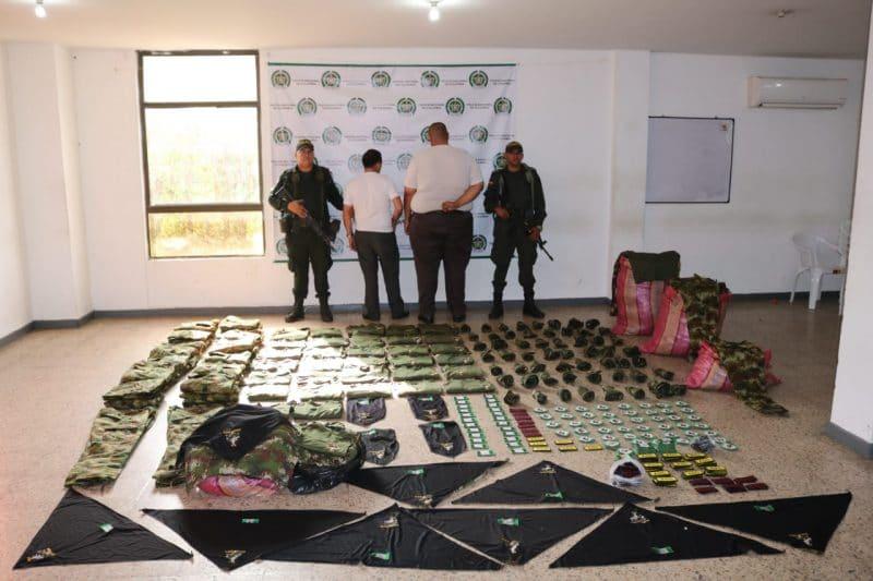 Hallan prendas de uso militar en un bus intermunicipal con destino a Nariño