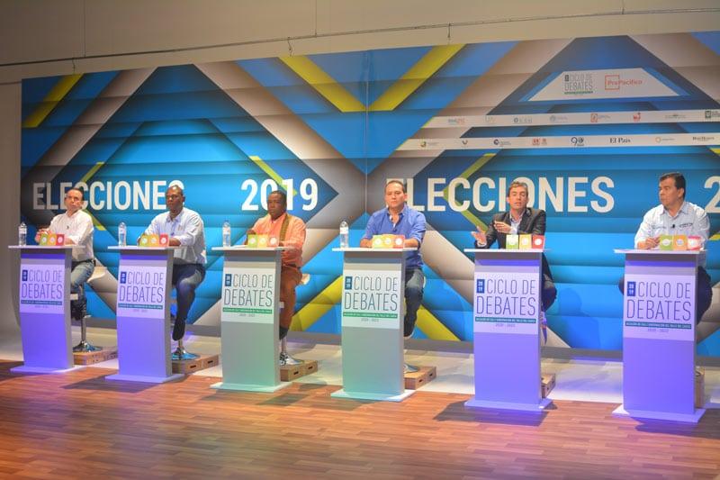 La ausencia de Ospina y la adhesión de Francined a Ortiz, generaron las frases del debate