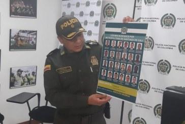 Por diferentes delitos, dan a conocer el cartel de los delincuentes más buscados de Cali