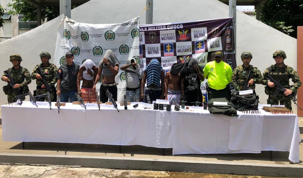 Capturados seis integrantes del ELN dedicados a extorsión y secuestro en Quibdó