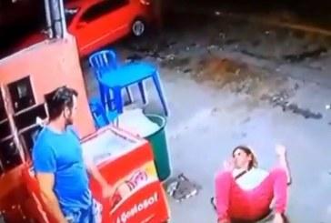 Indignante: Vea la brutal golpiza que le propinó este hombre a una mujer en Brasil