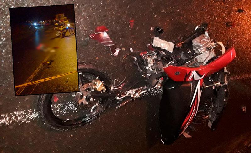Joven murió en vía al km 18 tras perder el control de su moto que quedó partida en dos