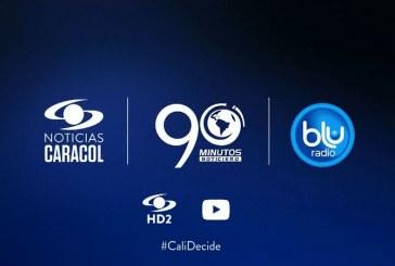 Noticias Caracol, Blu Radio y 90 Minutos unidos en debate #CaliDecide con candidatos a la Alcaldía
