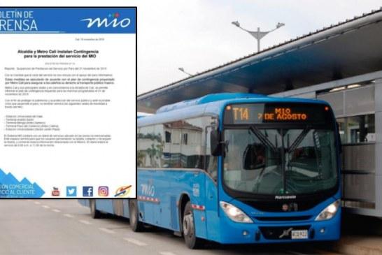 Desmienten falso comunicado de cierre de estaciones del Mio