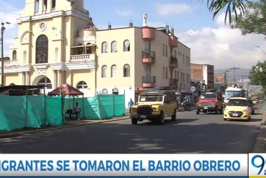 Habitantes del barrio Obrero piden intervención de la Policía con migrantes del sector