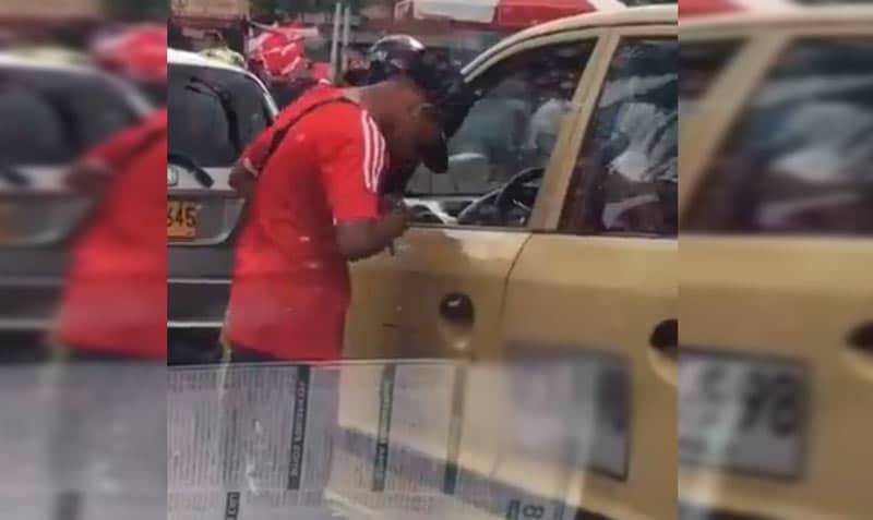 Capturan a presunto hincha de América que quedó grabado en video intimidando a taxista