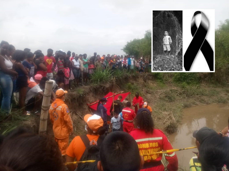 Así apareció el cuerpo del niño arrastrado por el río en Corinto