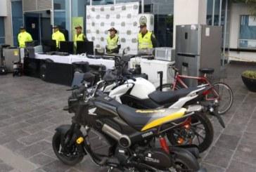 Policía recuperó artículos hurtados durante el Paro Nacional