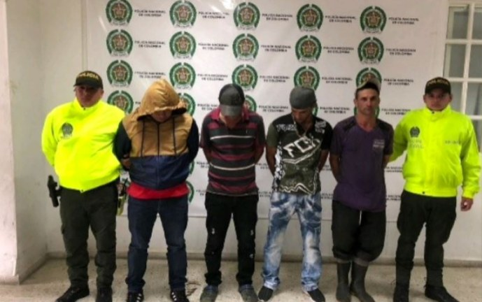 Capturadas cuatro personas responsables de un triple homicidio en el norte del Valle