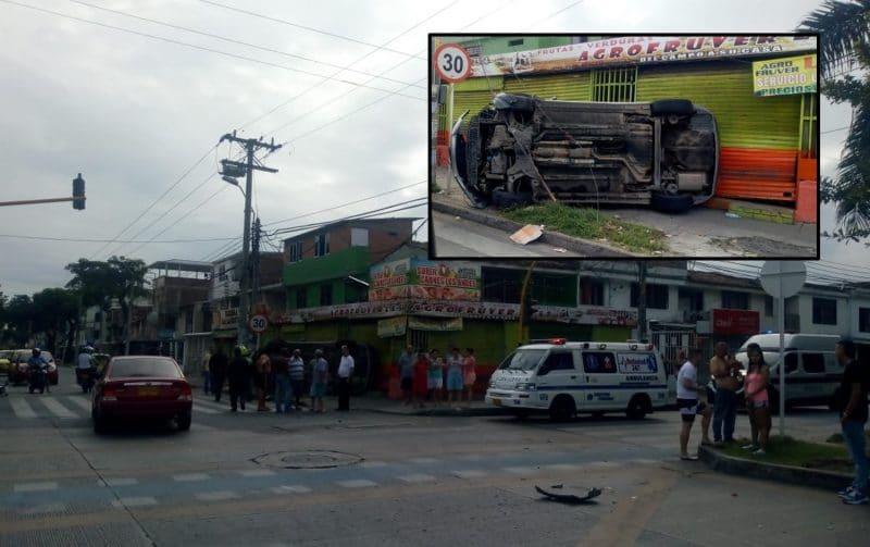 Conductor de motocicleta resultó herido tras accidente de tránsito en barrio Salomia de Cali