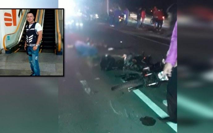 Identifican a motociclista que murió en aparatoso accidente en la recta Cali – Palmira