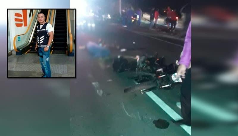 Identifican a motociclista que murió en aparatoso accidente en la recta Cali - Palmira