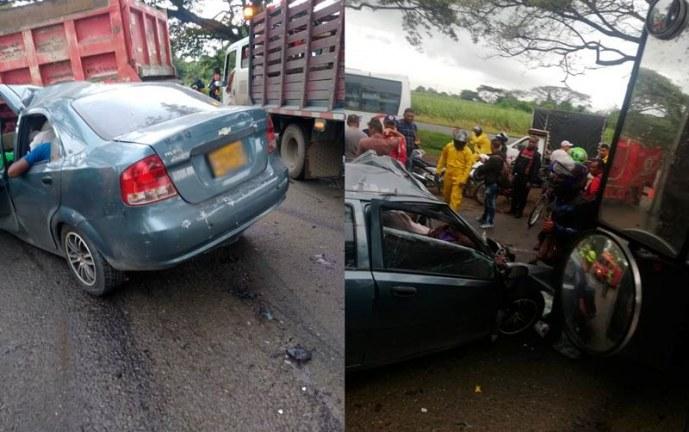 Dos muertos deja hasta el momento aparatoso accidente en la vía Cali – Candelaria