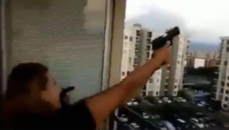 ¡Qué tal! Familia se grabó haciendo disparos al aire desde apartamento en Bochalema, sur de Cali