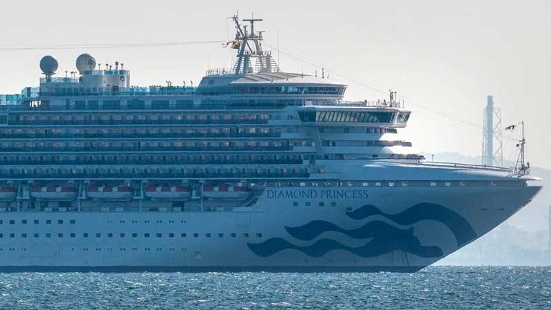 Confirman primer caso latinoamericano de coronavirus a bordo de crucero en Japón