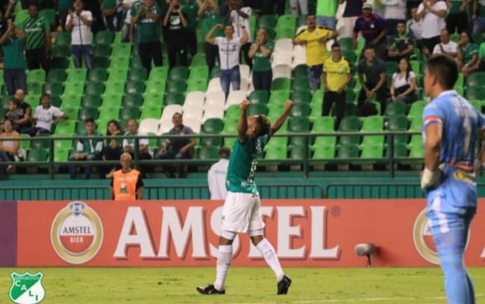 Deportivo Cali se complicó y apenas logró ganarle 2-1 a River Plate por Suramericana