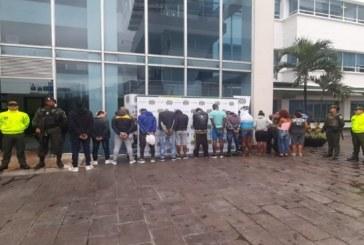Megaoperativo de seguridad permitió la captura de 17 personas por diferentes delitos en Cali