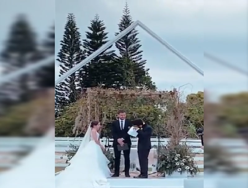 Lágrimas: emotiva reacción de Camilo Echeverry al ver a Evaluna caminando al altar