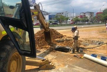 Por trabajos de alcantarillado de Emcali cierran cruce entre calle 13 con carrera 23