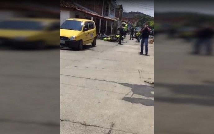 Patrullero en Zarzal fue herido con arma de fuego en uno de sus pómulos en medio de operativo