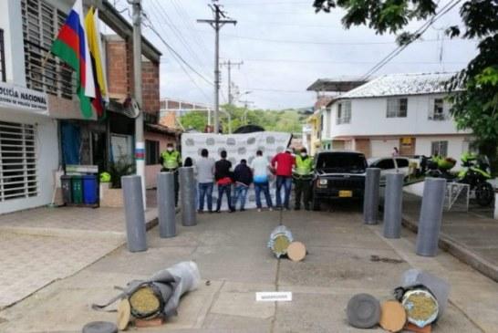 Casa por cárcel a 6 personas señaladas de transportar 250 kilos de marihuana en San Pedro, Valle