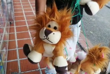Venta de peluches en homenaje al león Júpiter ha sido un éxito en el centro y semáforos de Cali