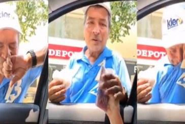 Video: vendedor ambulante entra en llanto tras recibir 300 mil pesos por una cocada