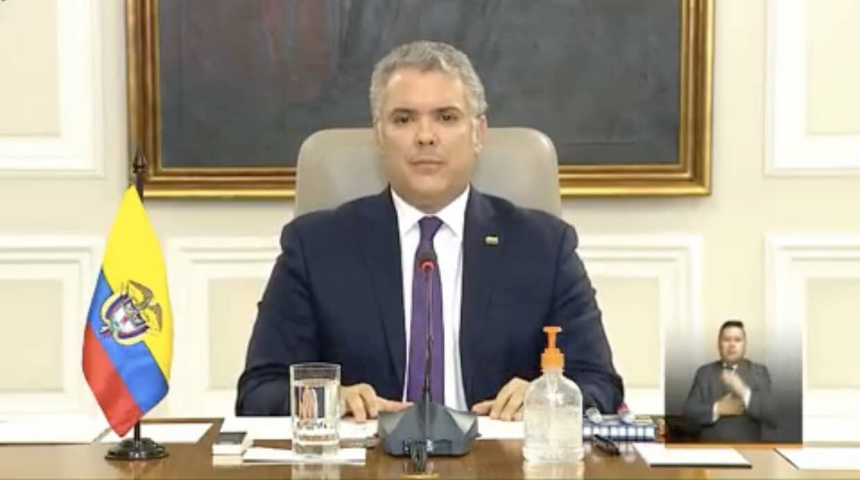 Duque anuncia que aislamiento obligatorio en el país se extiende hasta el 26 de abril