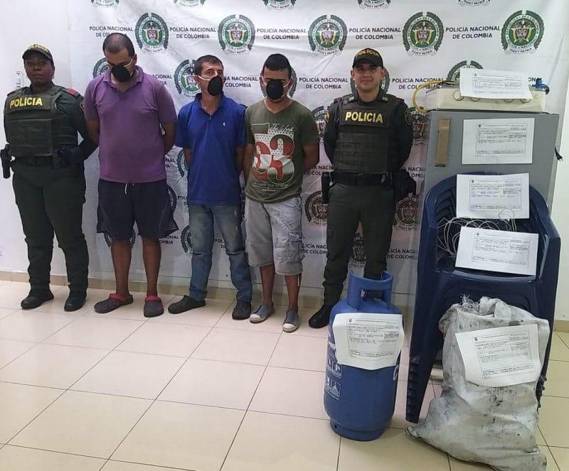 A la cárcel sujetos que fueron sorprendidos robando una finca en San Pedro, Valle