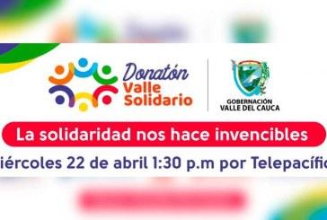 Línea para participar en la gran donatón 'Valle Solidario' ya está habilitada para hacer donaciones