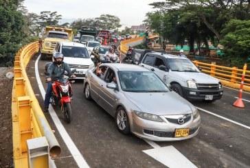 Municipio aclara que puente nuevo de la 100 con 25 no resultó afectado por las lluvias