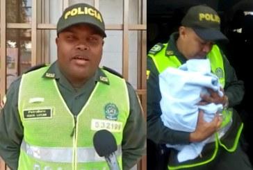 Con ayuda de un patrullero de la Policía, mujer tuvo a su bebé en una vía pública de Yumbo
