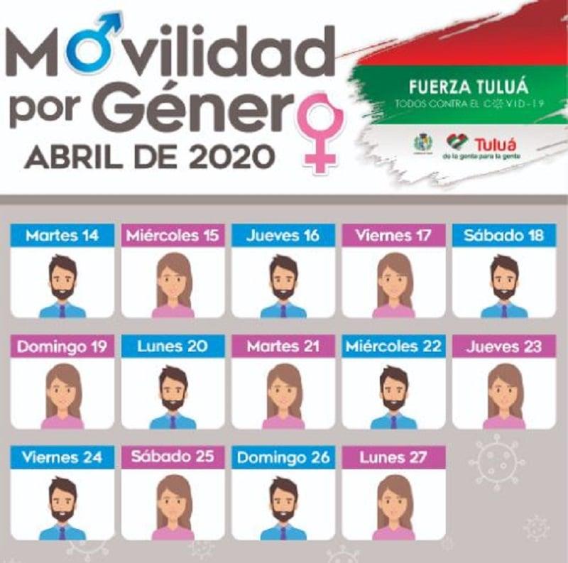Tuluá decreta 'Pico y género' para lo que resta de cuarentena en Colombia