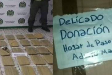 Valle: al menos 40 kilos de marihuana fueron incautados en cajas de donación para hogar de ancianos