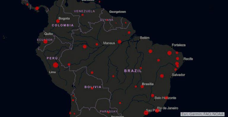 Alerta regional entre los países vecinos de Brasil por el COVID-19
