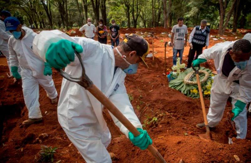 Sao Paulo registró récord de 1.389 muertes por covid-19 en 24 horas
