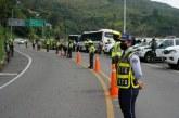 Más de 100 conductores fueron sancionados por violar normas en vías del Valle durante puente festivo