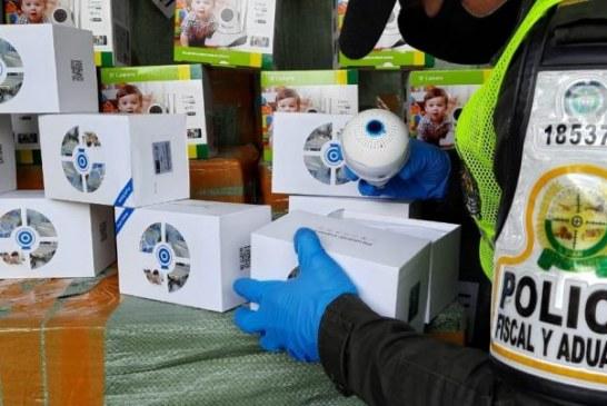 Incautan 1.700 cámaras de seguridad de contrabando en el Valle que pretendían ser trasladadas a Bogotá