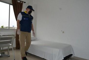 Verifican medidas de bioseguridad en hotel donde se hospeda personal del Laboratorio de Salud del Valle