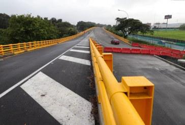 Habilitaron el retorno vial del puente de la carrera 100 con calle 25