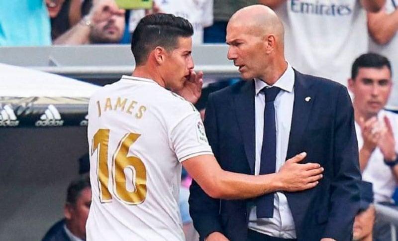 Zidane entregó una contundente respuesta al ser preguntado por James Rodríguez