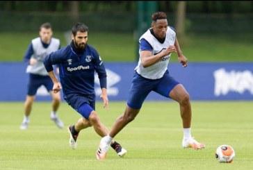 Vuelve Yerry Mina a entrenamientos con Everton después de estar lesionado 4 semanas