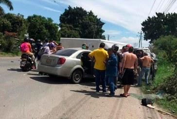 Accidente de tránsito en vía Palmira – Cali deja un muerto y cuatro heridos