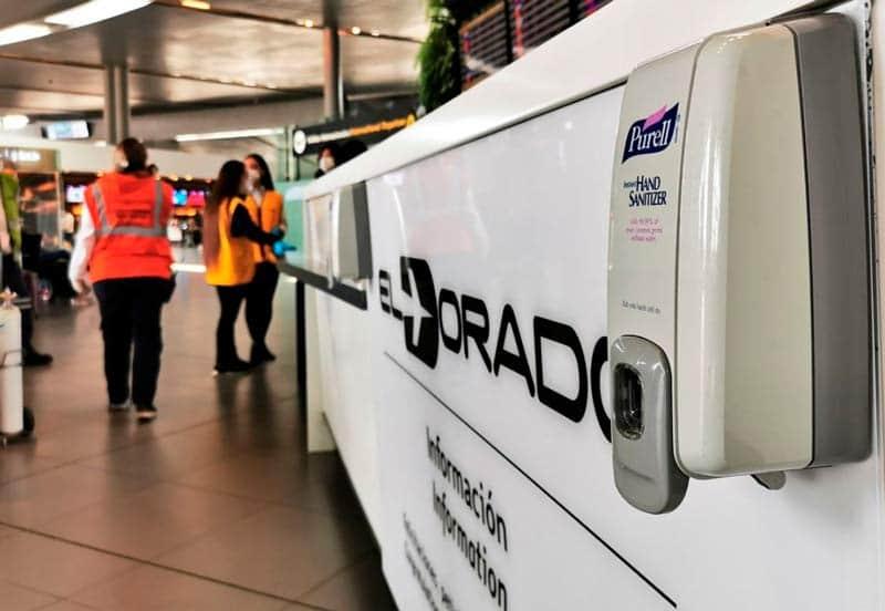 Aeropuerto de Bogotá adopta medidas de bioseguridad para eventual reapertura