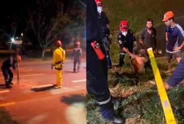 Dos hombres estuvieron a punto de perder la vida por rescatar a un perro en Valle del Lili