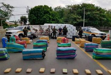 Policía y Ejército Nacional incautaron 1400 kilos de marihuana en Palmira