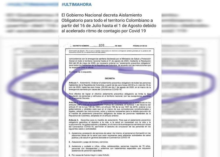 Aquí le explicamos el decreto que amplía la cuarentena hasta el 1 de agosto y que ha generado confusión en Cali