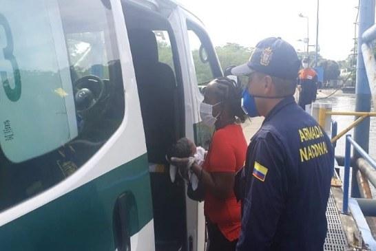 Labores de un parto en Tumaco fueron apoyados por tripulantes de la Armada Nacional