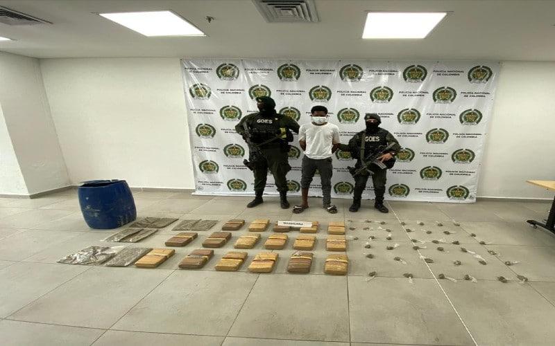 A la cárcel presunto responsable de porte de estupefacientes en Buenaventura